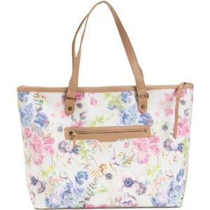 Elliot Lucca Faux Leather Aria Coated Floral Tote
